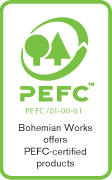 Bohemian Works offers PEFC-certified products